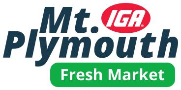 A theme logo of Mt. Plymouth IGA